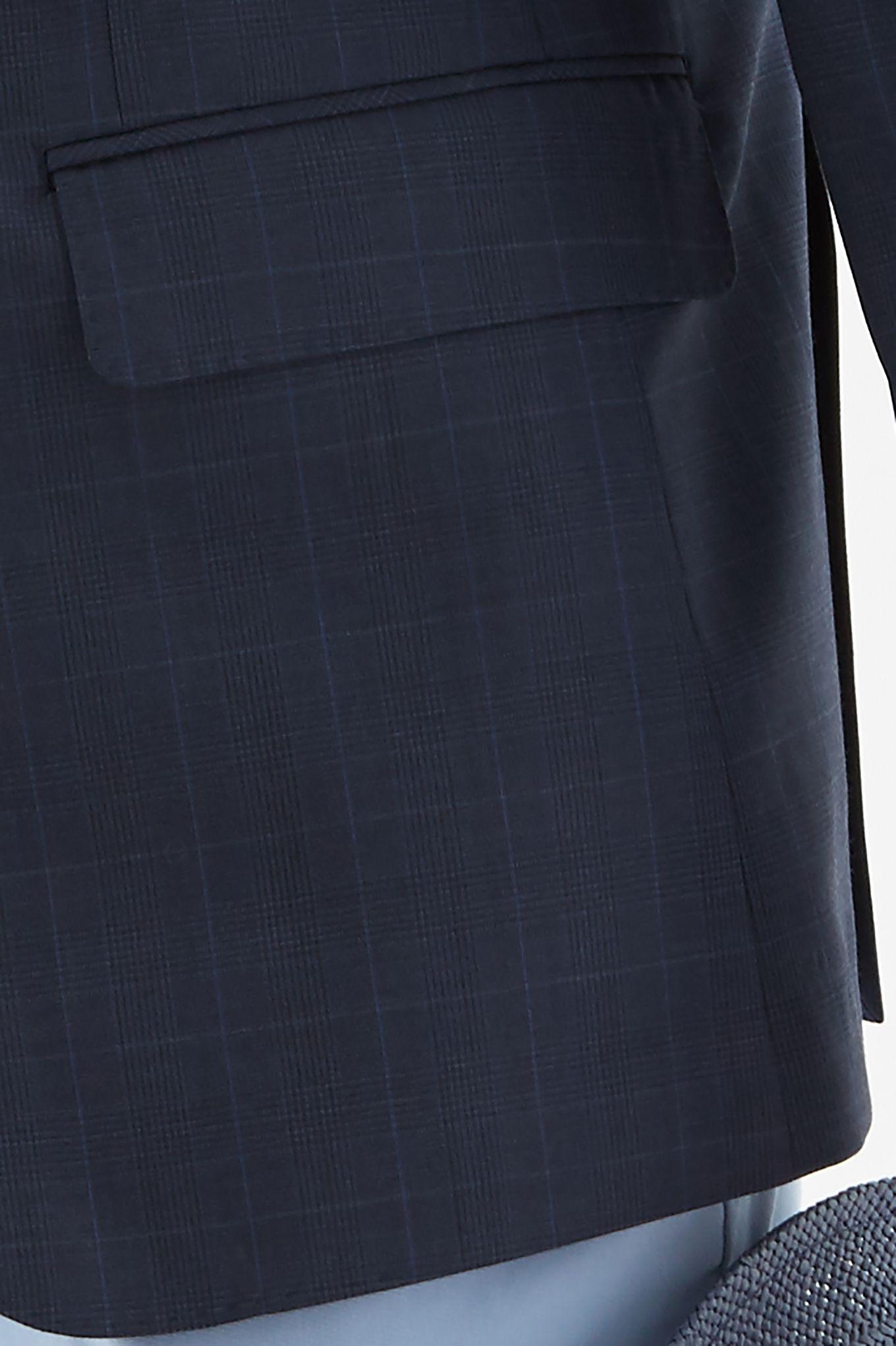 Men s Checked Slim Fit Classic Blazer