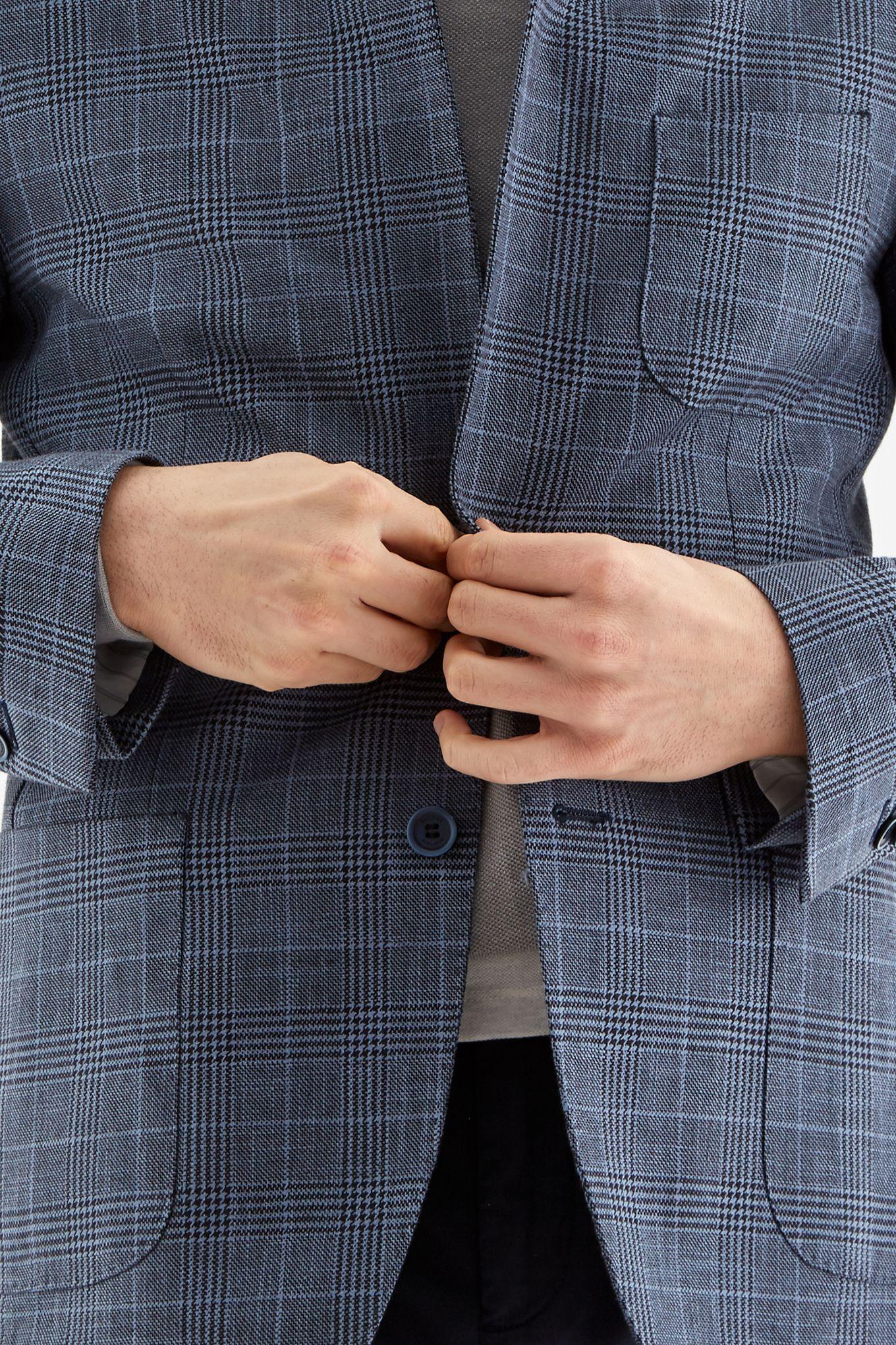 Men s Prince of Wales Slim Fit Classic Blazer