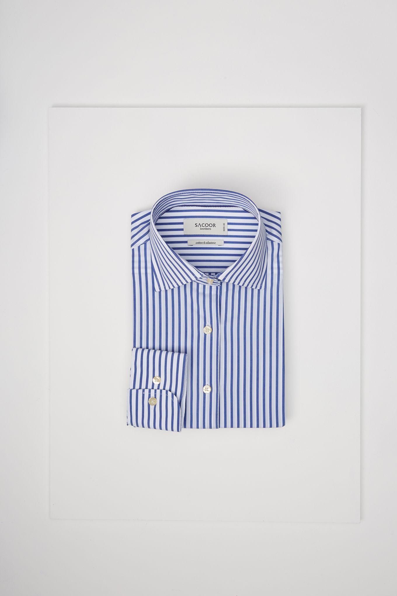 Women's Striped Slim Fit Classic Shirt