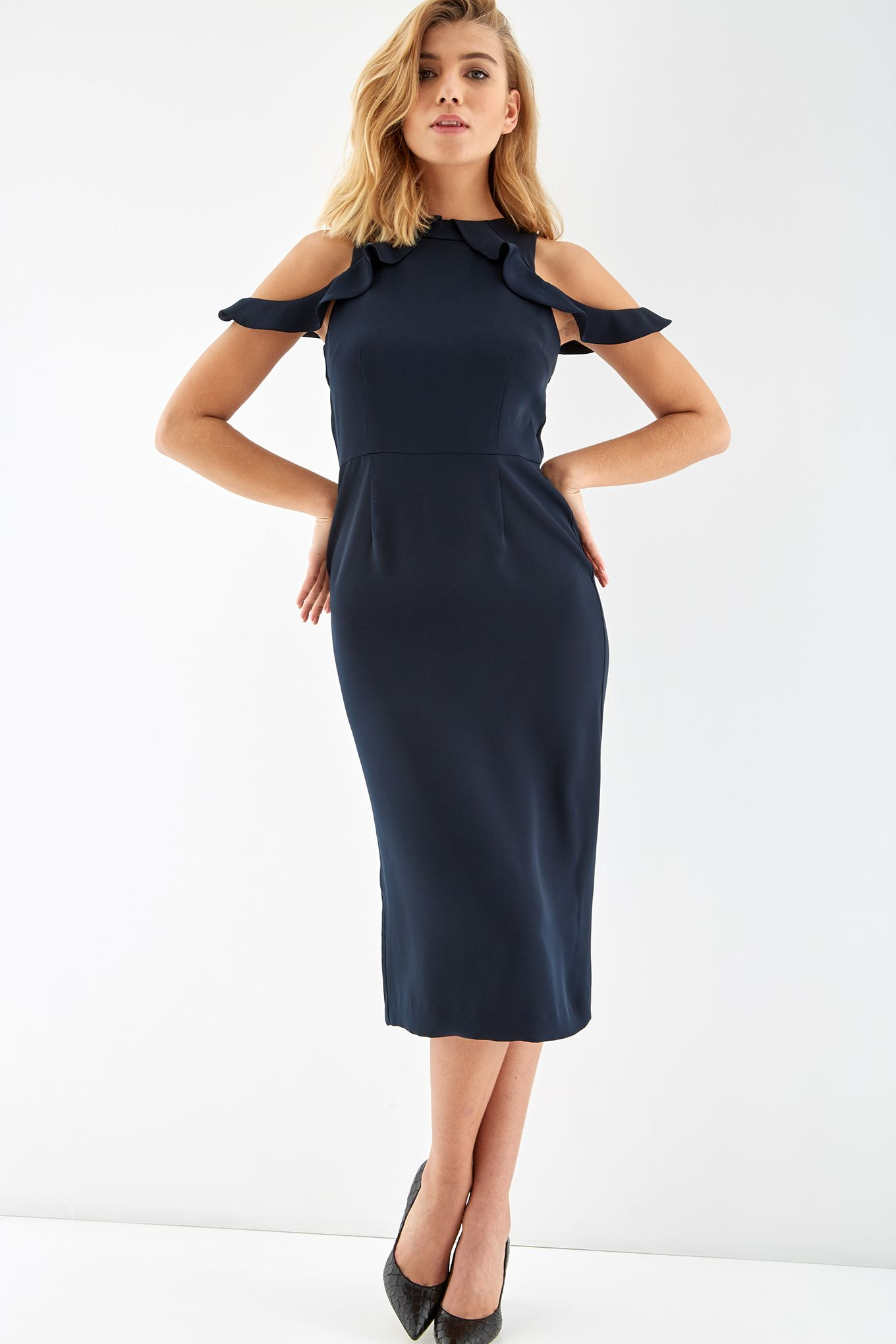 Women s Off the Shoulder Midi Dress