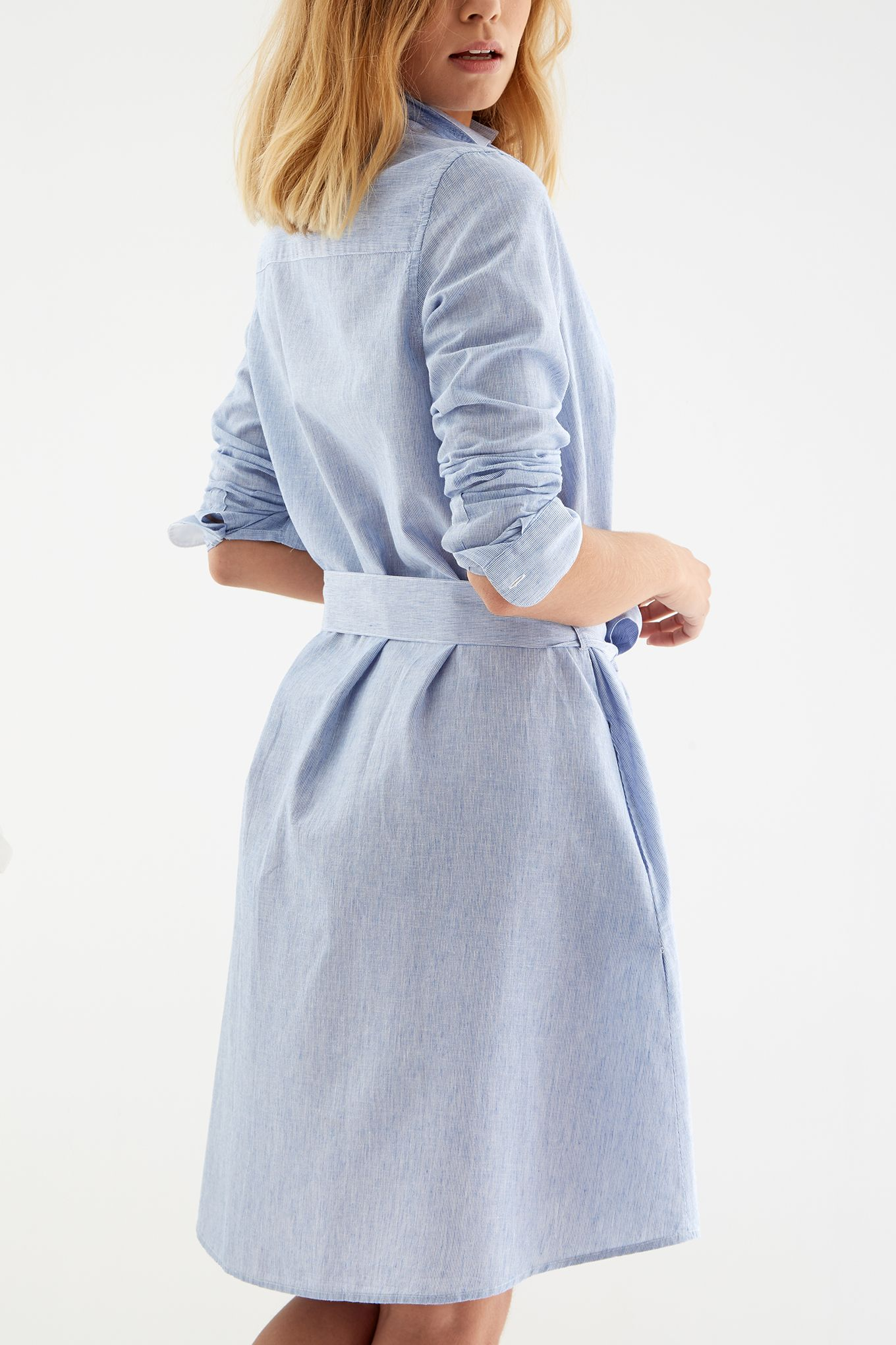 Women s Striped Linen Shirt Dress