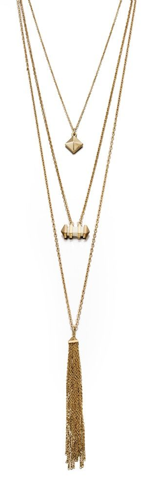 Fiorelli Fashion Gold Plated Multi Layer Pendant Necklace 40cm + 5cm