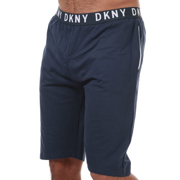 Men's DKNY Lions Lounge Shorts in Navy