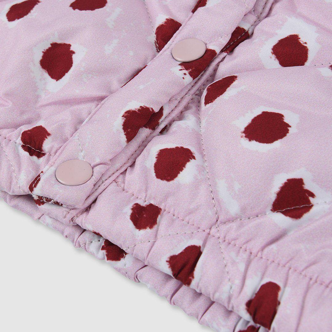 Painted Dot Jacket Pink