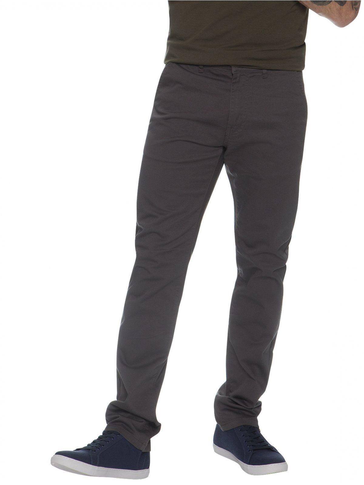 Enzo Men's Chinos Slim Fit Stretch Jeans