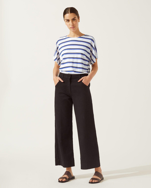 Shadow Stripe Kimono Sleeve Top