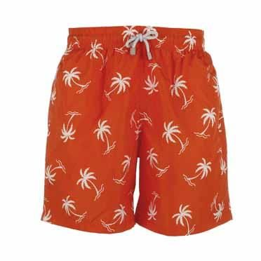 Boy's Orange Palm Tree Swim Shorts