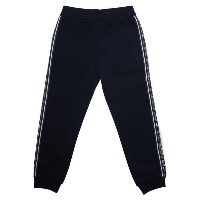 Boy's Emporio Armani EA7 Infant Jog Pants in Navy