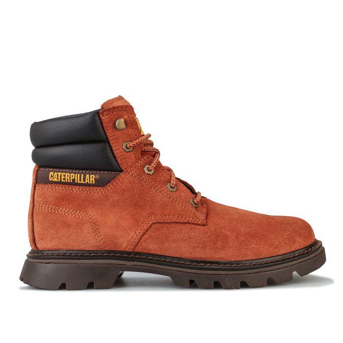 Men's Caterpillar Quadrate Boots in Brown