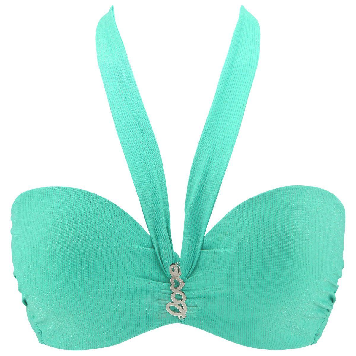 Love Strapless Halter Bikini Top
