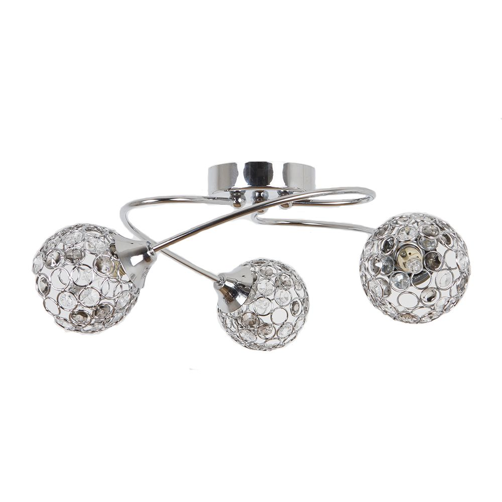 Bryn 3 Light Ceiling Light Polished Chrome