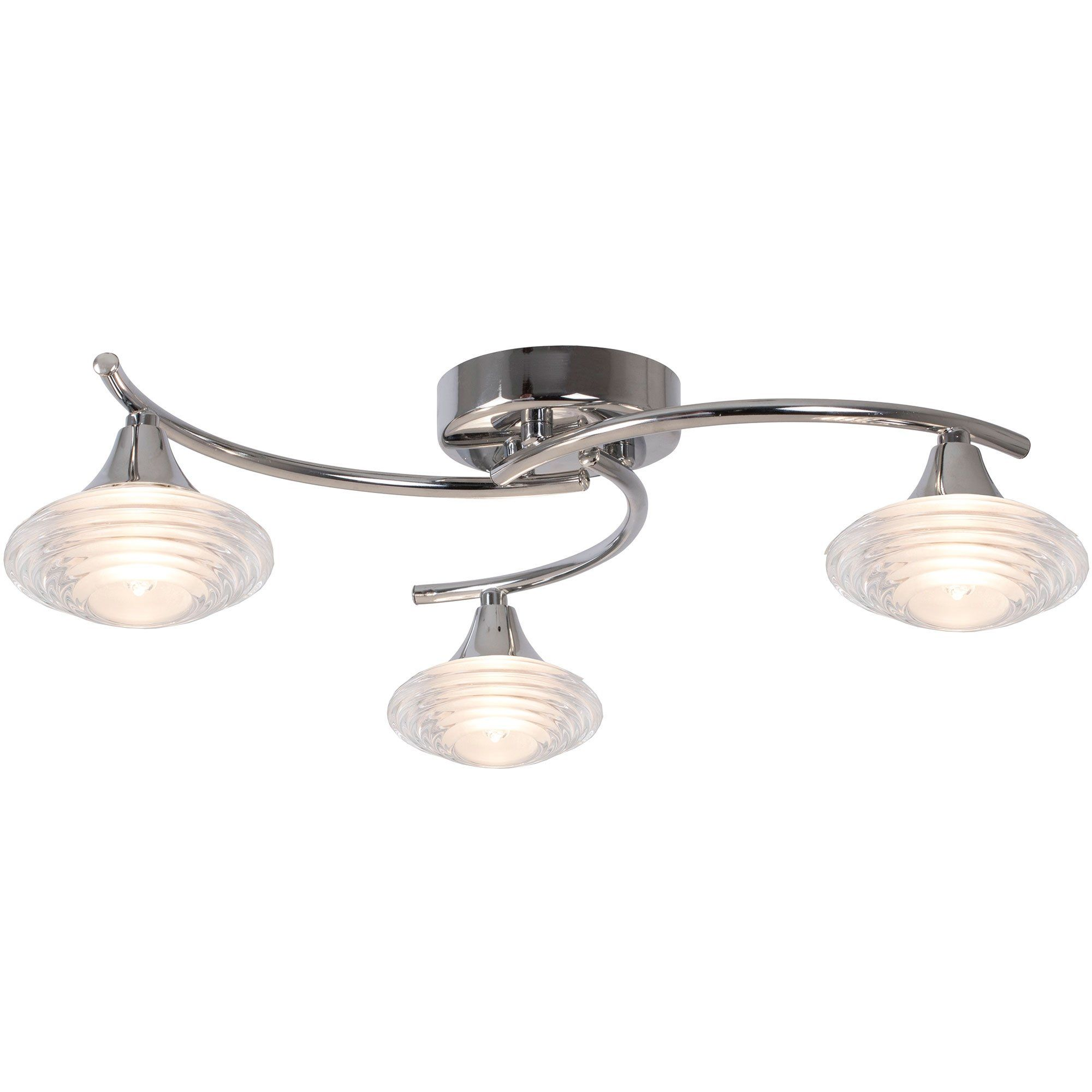 Conner 3 Light Semi Flush Ceiling Light