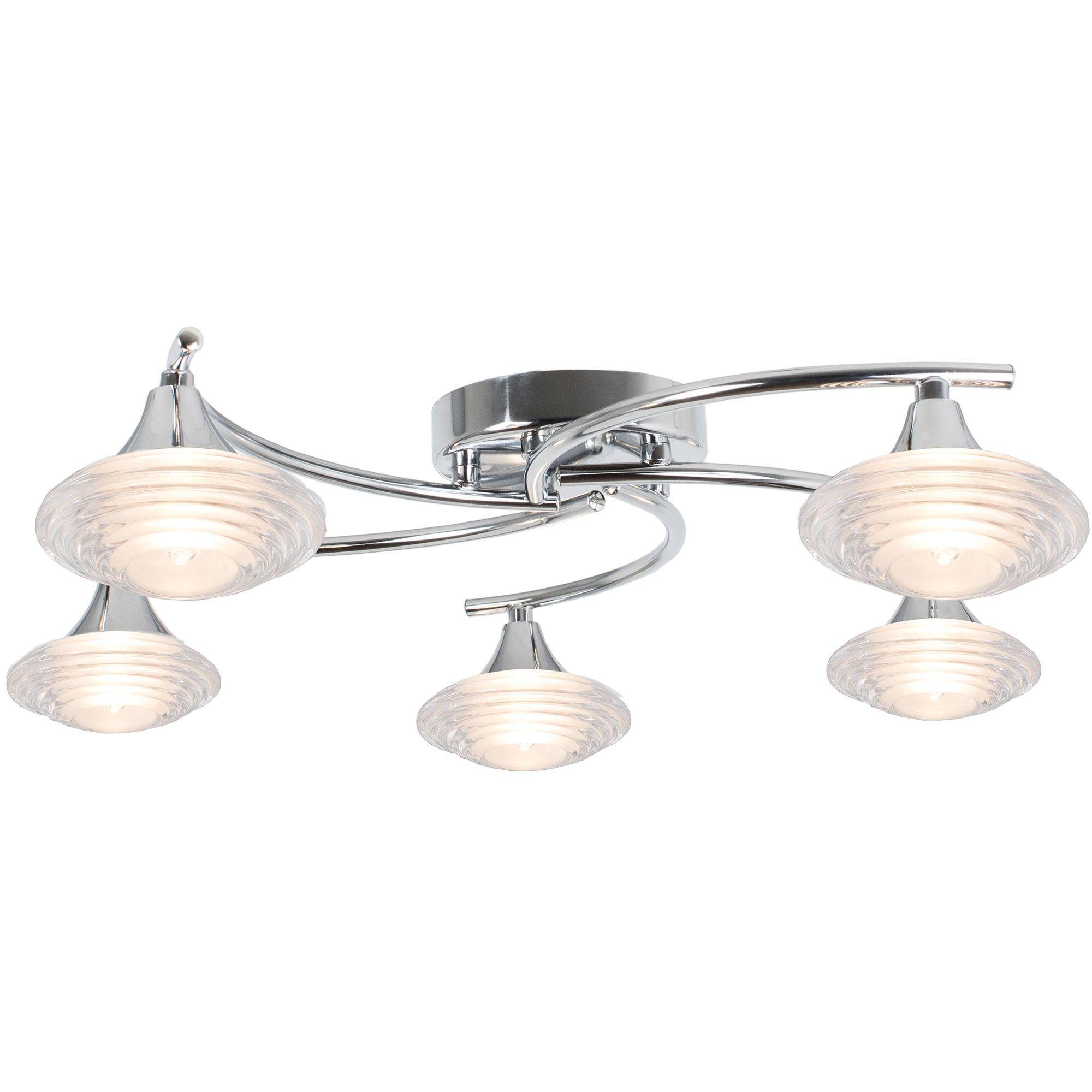 Conner 5 Light Semi Flush Ceiling Light