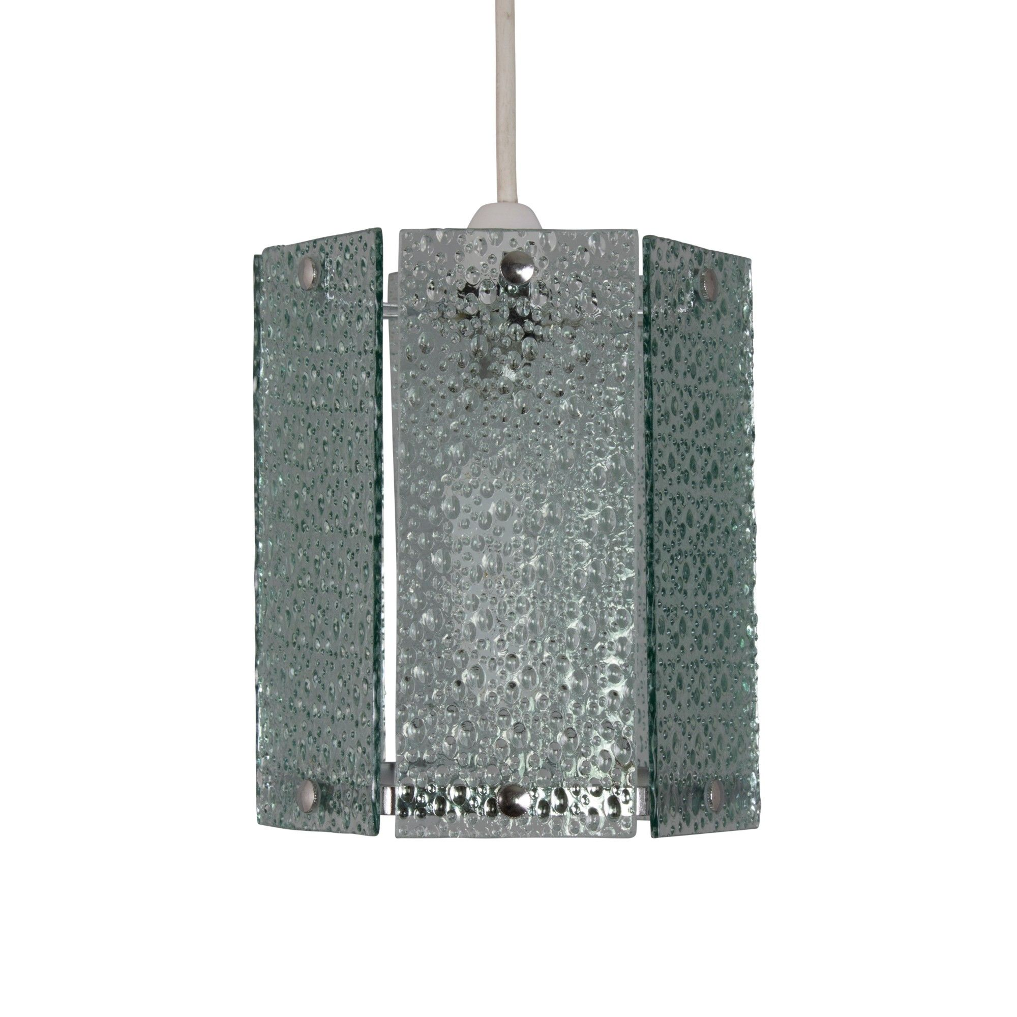 Ayala Hexagon Glass Pendant Ceiling Shade