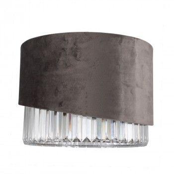 Povey Grey Velvet Pendant Ceiling Light Shade