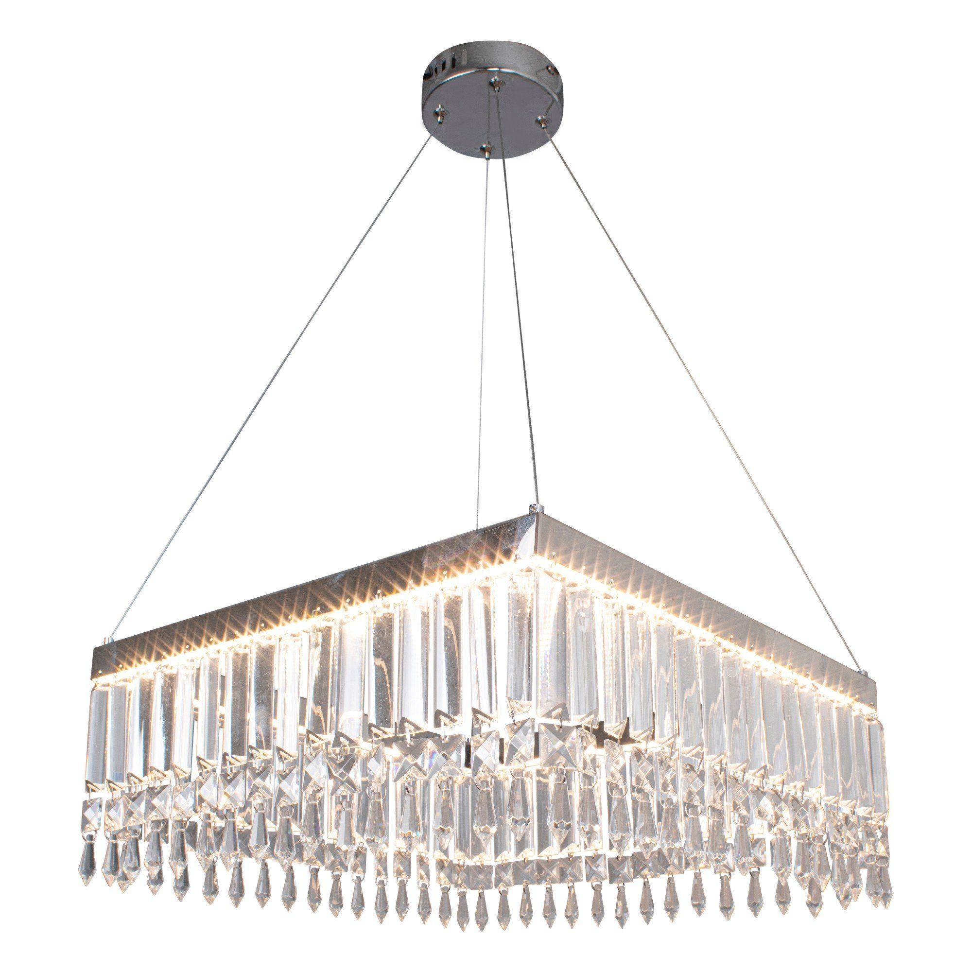 Maisha LED Polished Chrome Pendant Ceiling Light