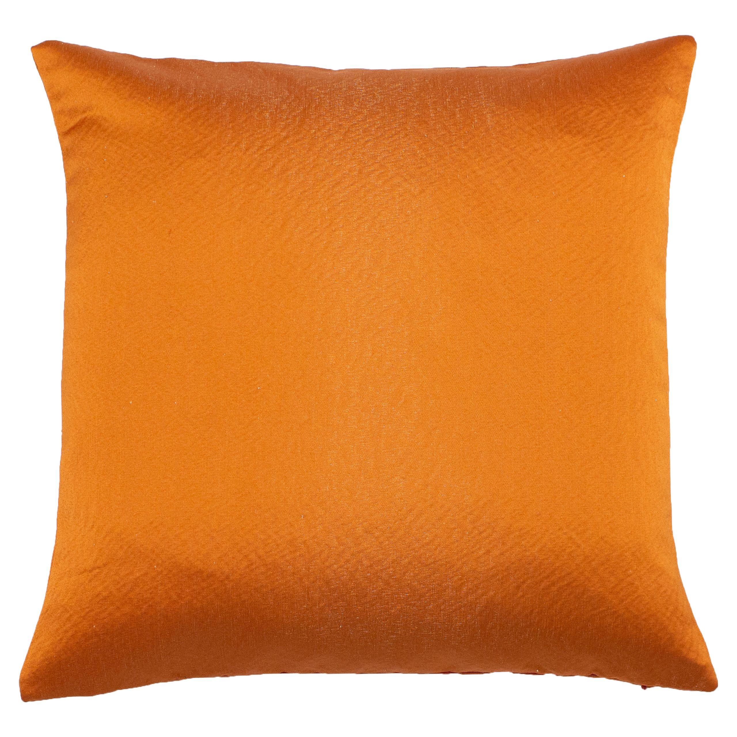 Palermo 45X45 Poly Cushion B/Orange