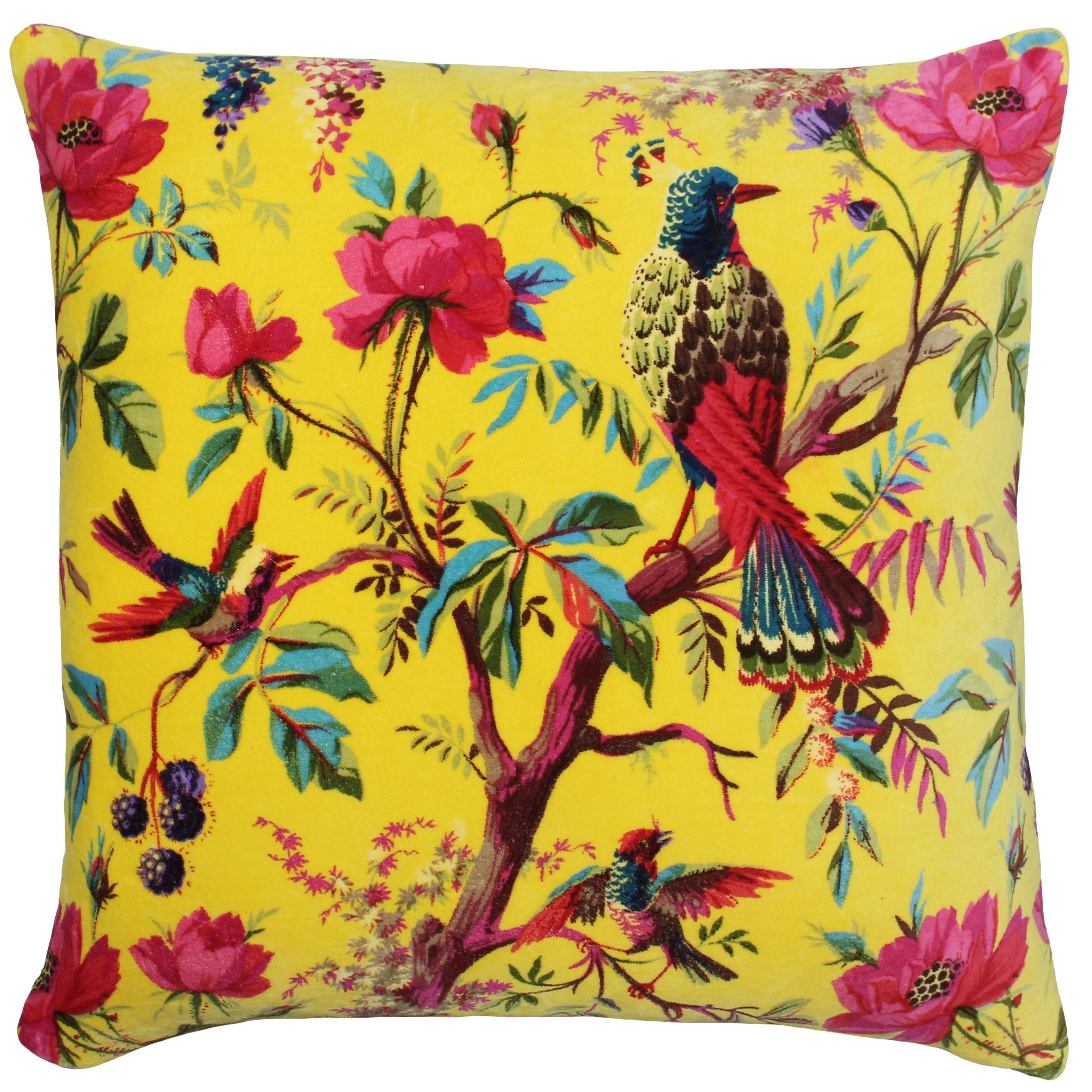 Paradise 50X50 Poly Cushion Yellow