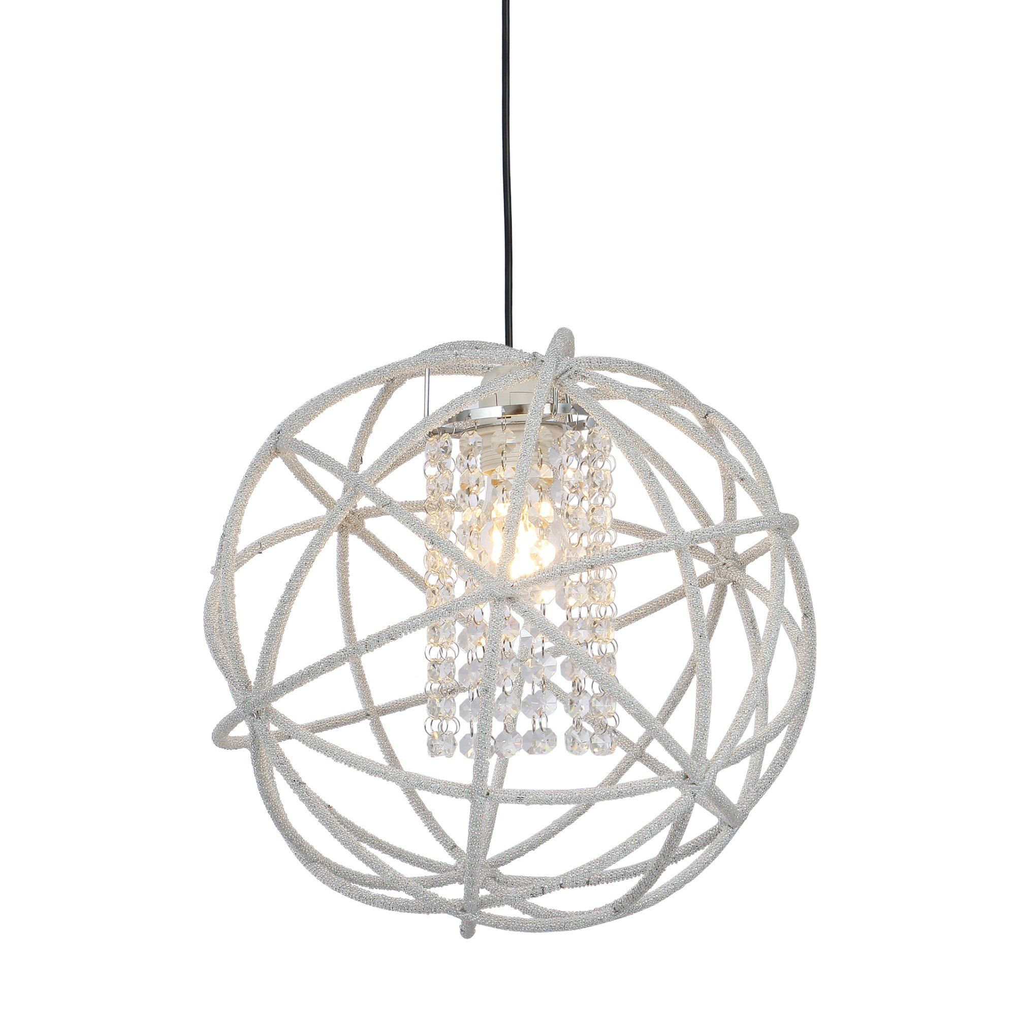 Veljo 35cm Ceiling Pendant Shade with Crystal Detail