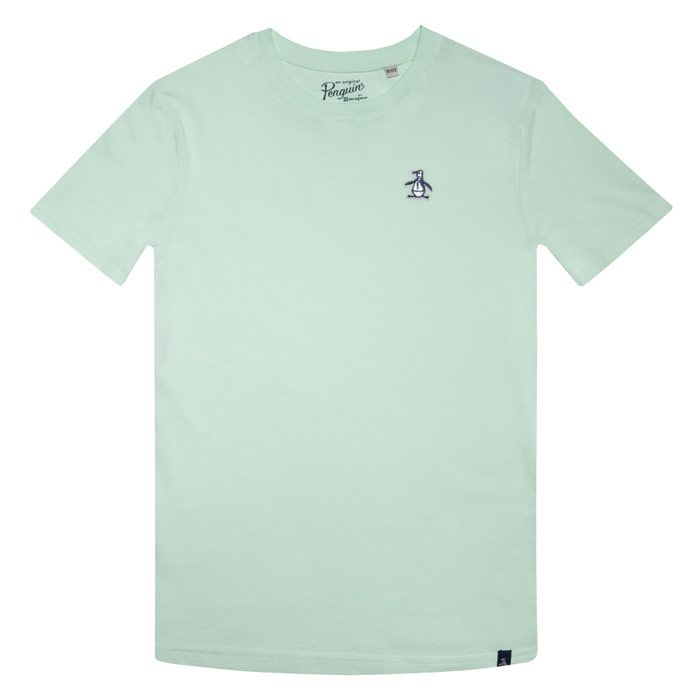 Boy's Original Penguin Infant Penguin T-Shirt in Green