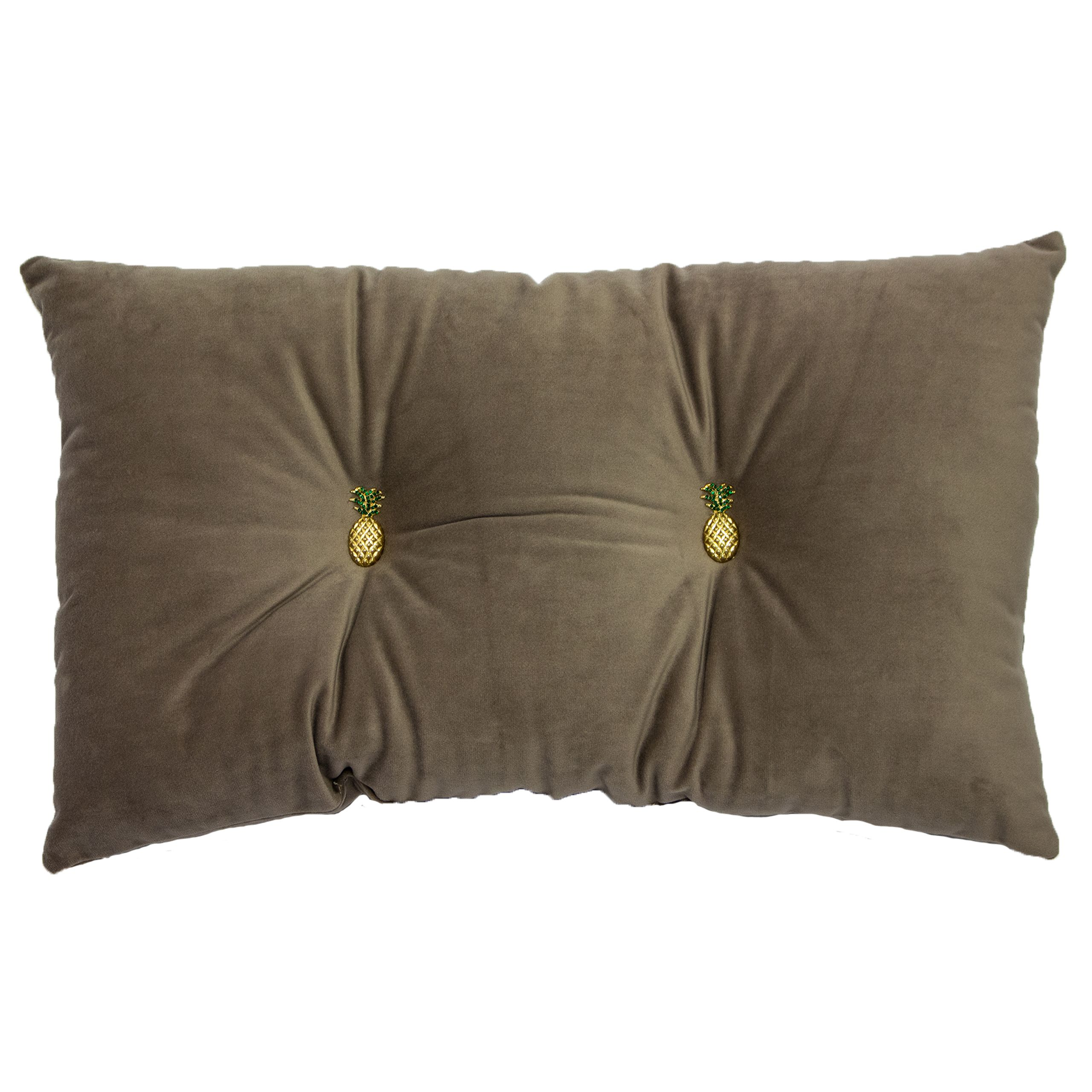 Pineapple 30X50 Pf Cushion Grey