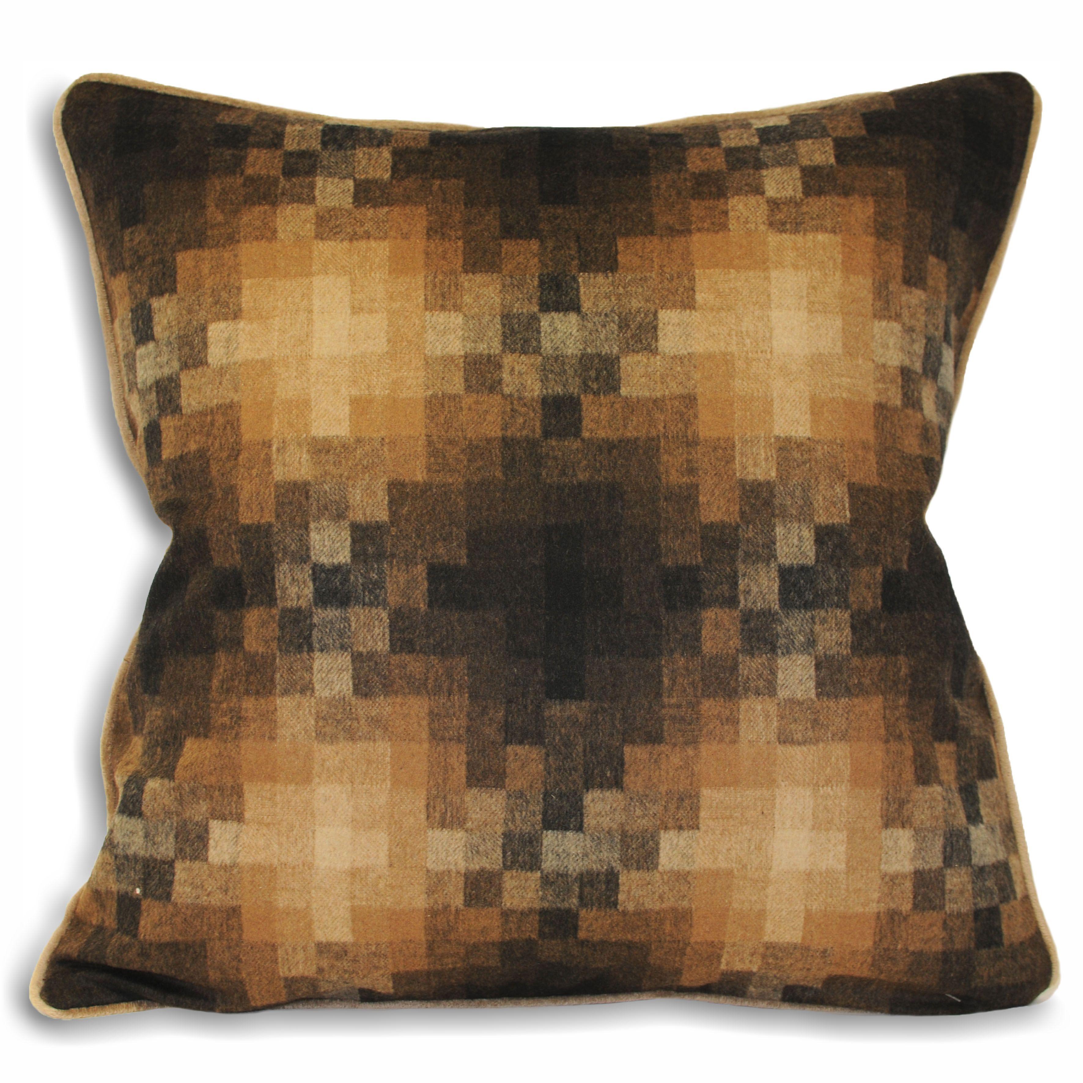 Pixel 45X45 Poly Cushion Caramel