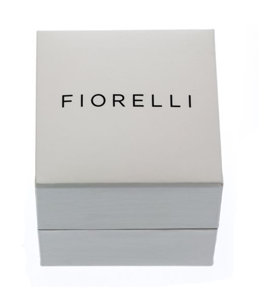 Fiorelli Silver Womens 925 Sterling Silver Rose Gold Plating Cubic Zirconia Ring