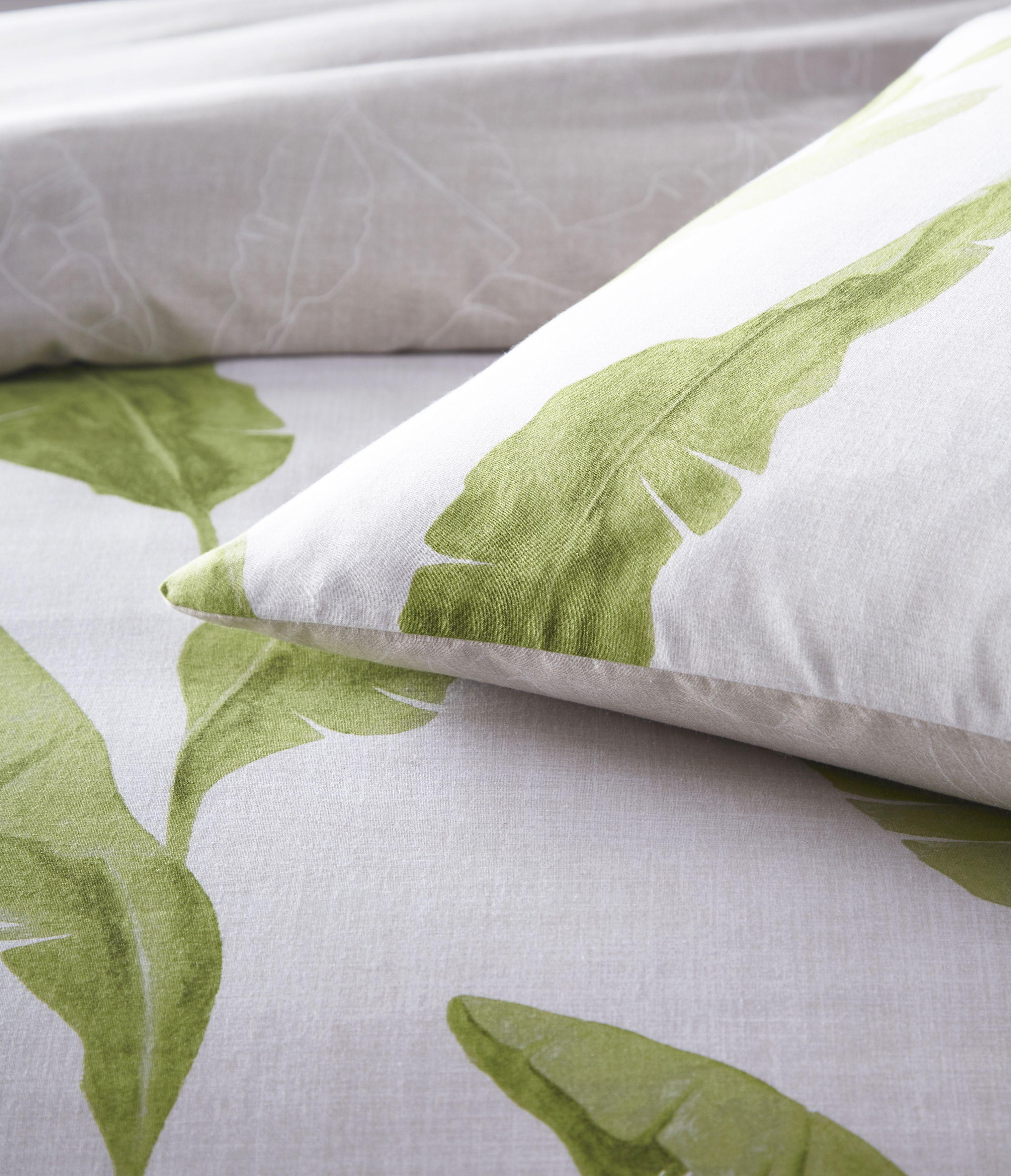 Plantain Duvet Set Nat/Green