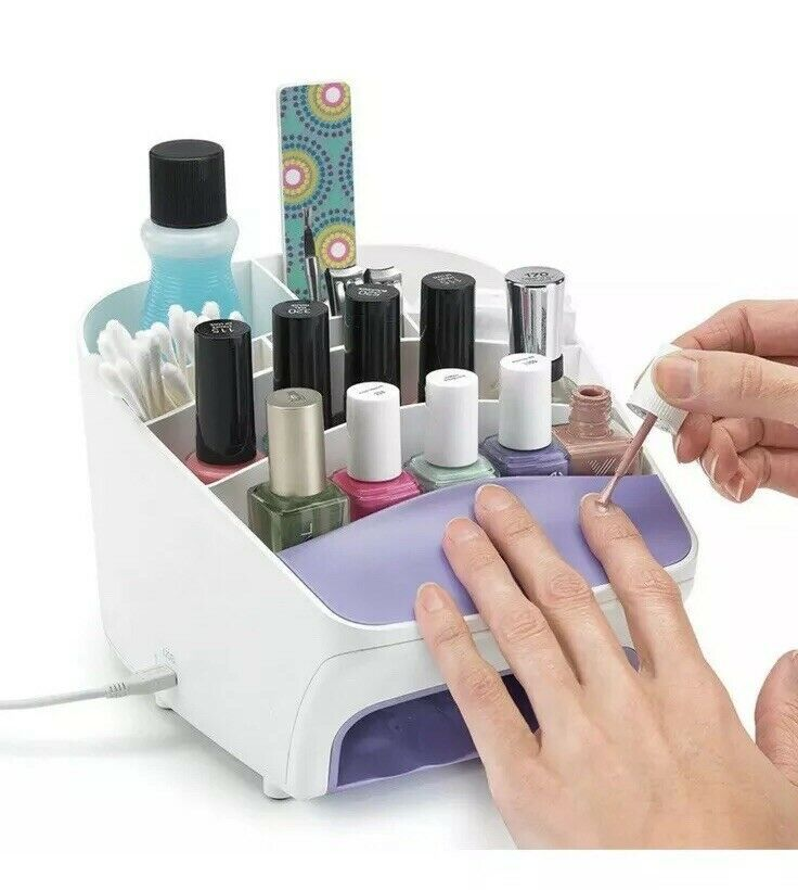 Polder Nail Station Three-In-One Dryer and Storage