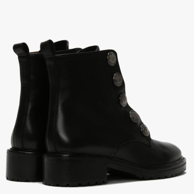 Daniel Polina Leather Embossed Studs Ankle Boots