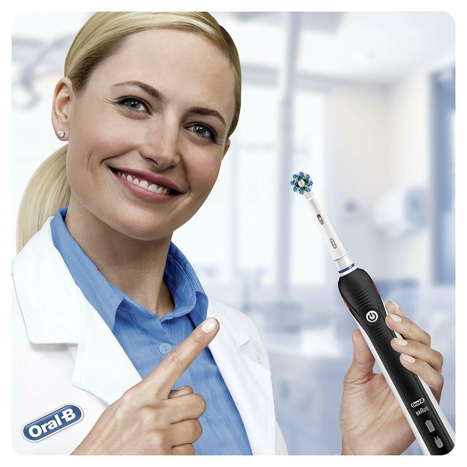 Oral-B Pro 2 2500N CrossAction Electric Rechargeable Toothbrush Black