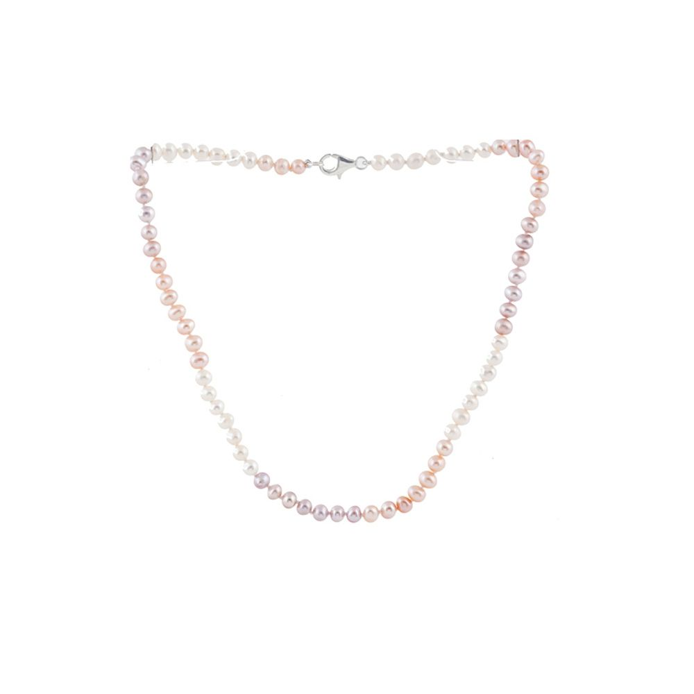 Multicolor Freshwater Pearl Child Necklace and Silver Clasp