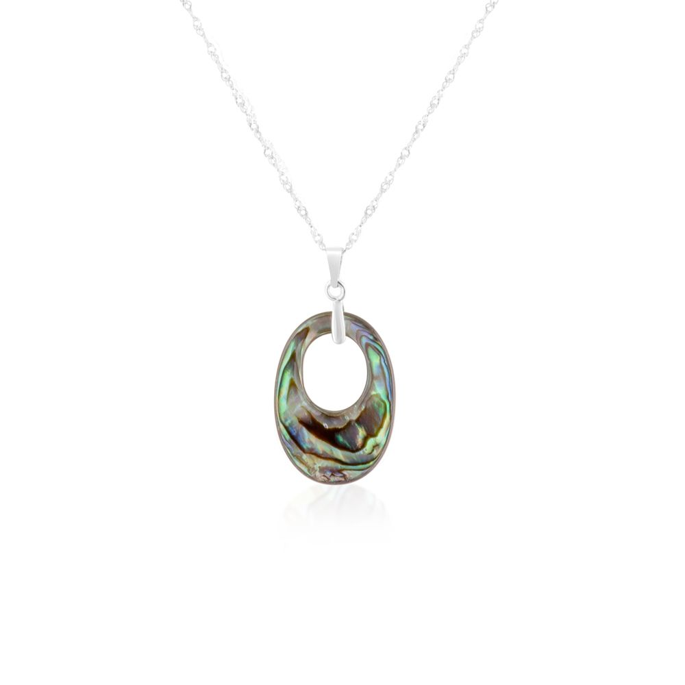 Abalone Pendant and Silver Mounting