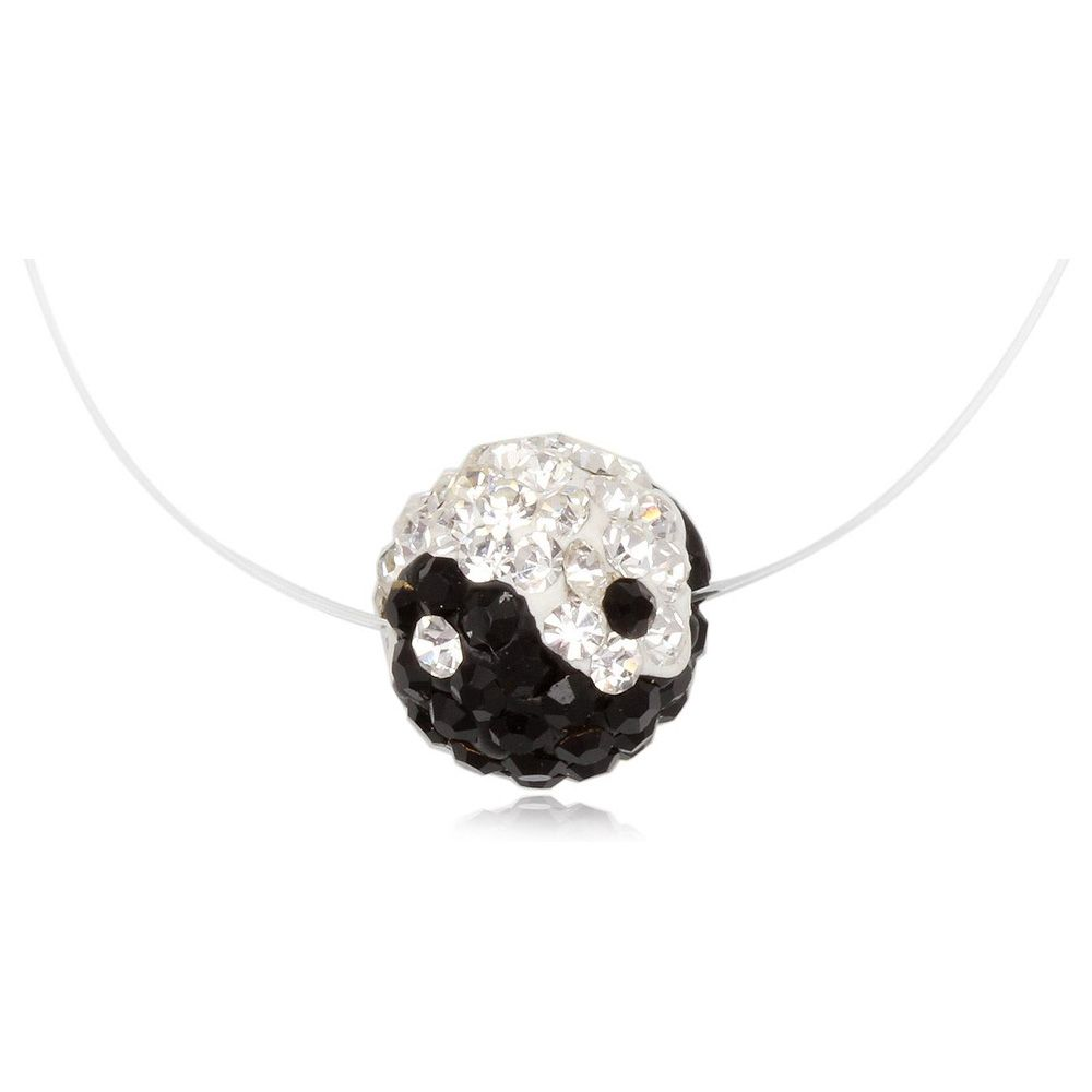 Yin Yang Invisible Nylon Necklace and Silver