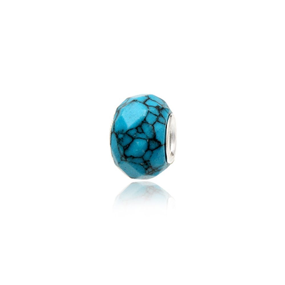 Turquoise Gemstone Charms Bead and 925 Silver
