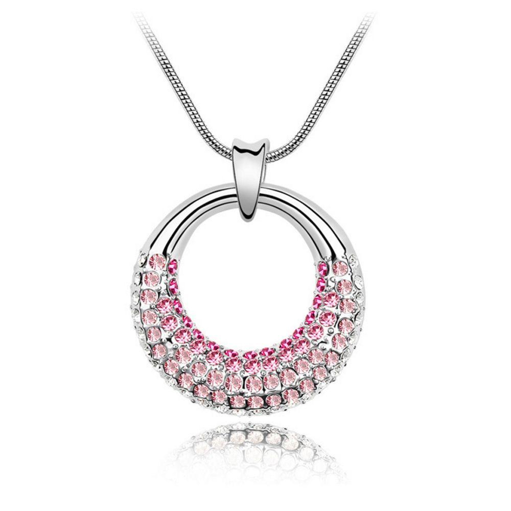 Swarovski - Pendant made with a Pink Crystal from Swarovski