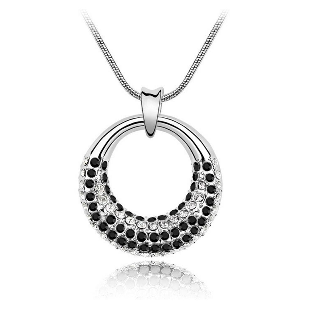Swarovski - Pendant made with a Black Crystal from Swarovski