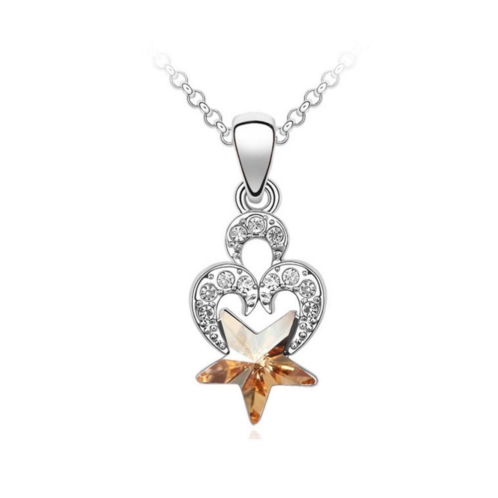 Swarovski - Heart and Star Pendant made with a Crystal from Swarovski