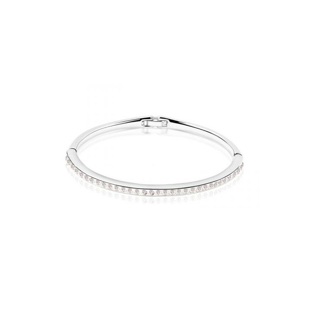 Swarovski - Children Bangle bracelet made with a White Crystal from Swarovski