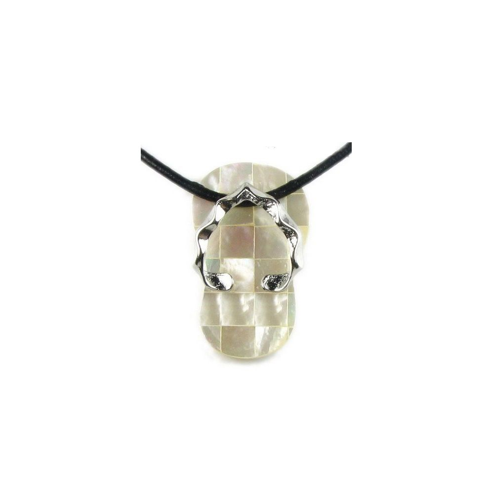 White Mother of Pearl Tong Pendant