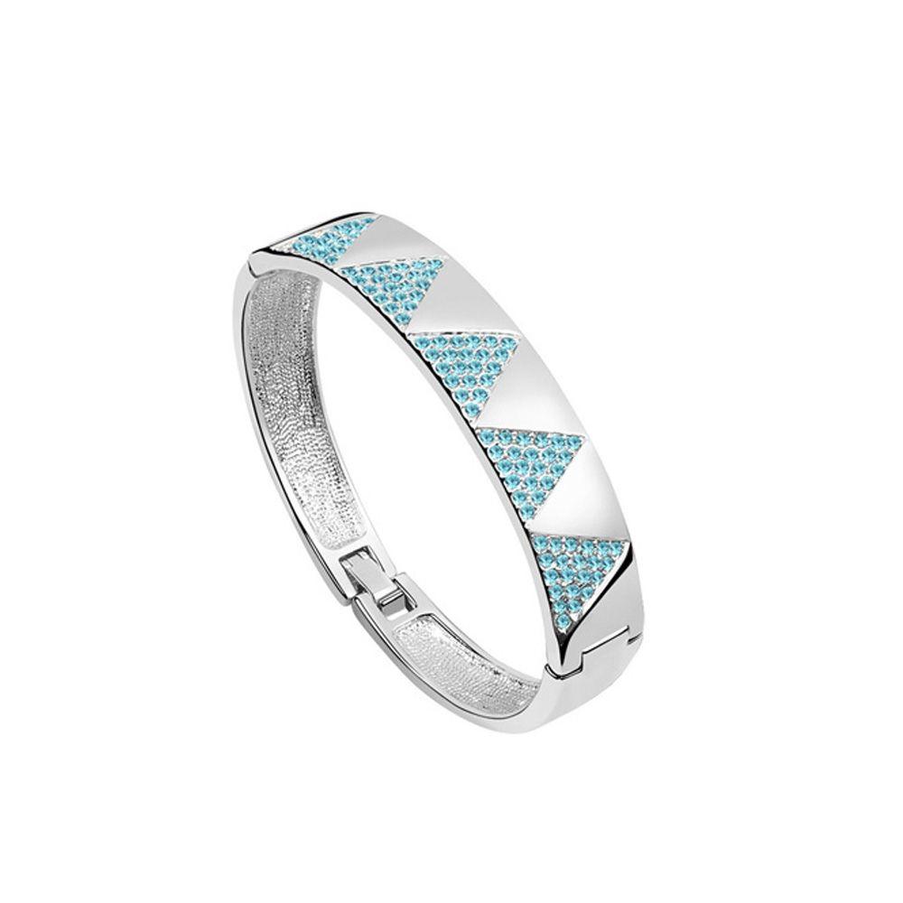 Swarovski - Bangle Bracelet made with Crystal Swarovski Elements Blue