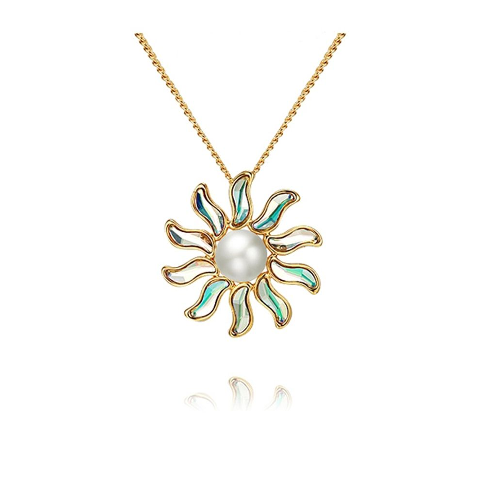 Swarovski - Sun Pearl Pendant Brooch and Swarovski Crystal Elements