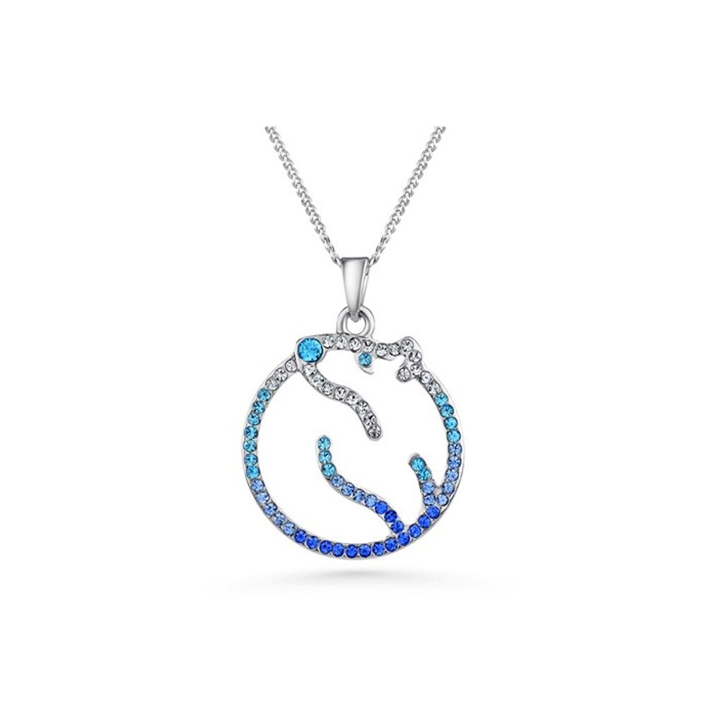 Swarovski - Blue Swarovski Crystal Elements Polar Bear Pendant