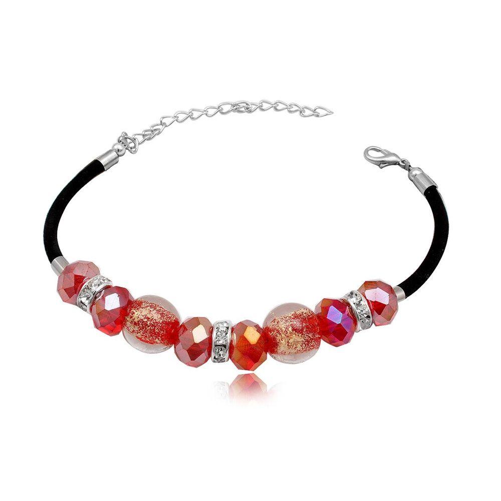 Pink Beads Murano Glass Bracelet