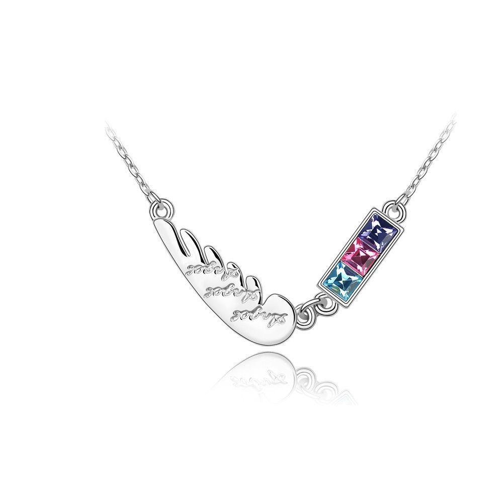 Swarovski - Feather Necklace Swarovski Crystal Elements