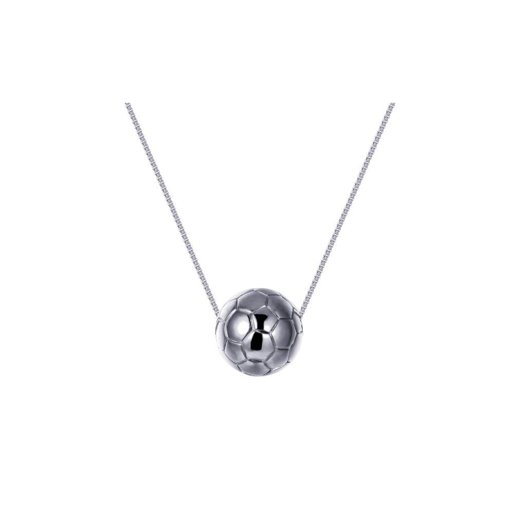 Rhodium plated Football Mixte Necklace