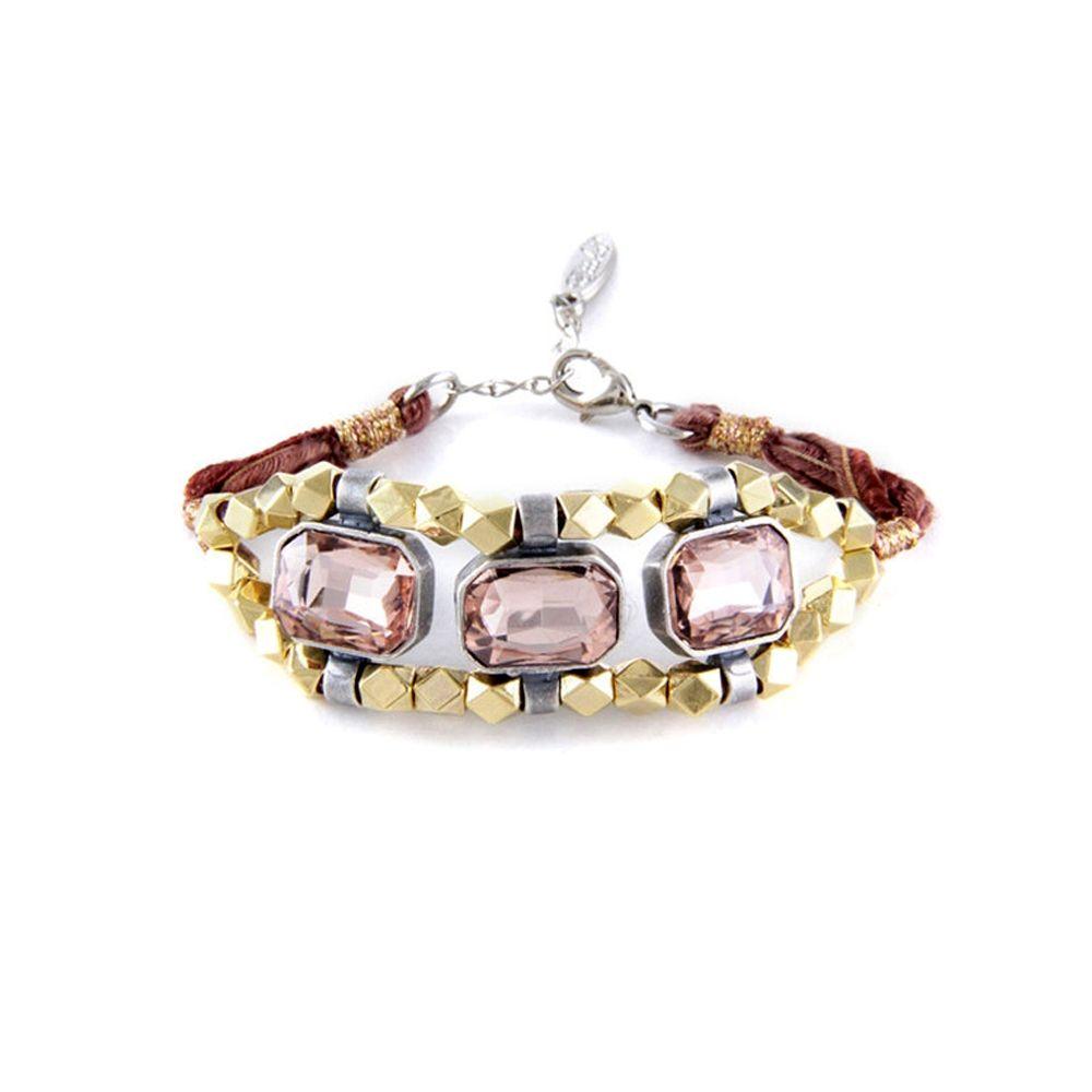 Ettika - Ribbons and Pink Crystal Bracelet