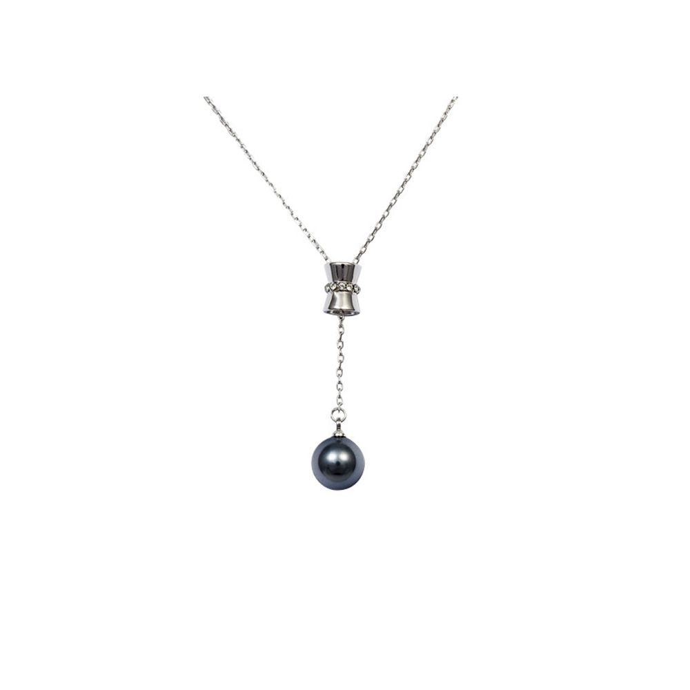 Swarovski - Grey Pearl Pendant, Swarovski Element Crystal