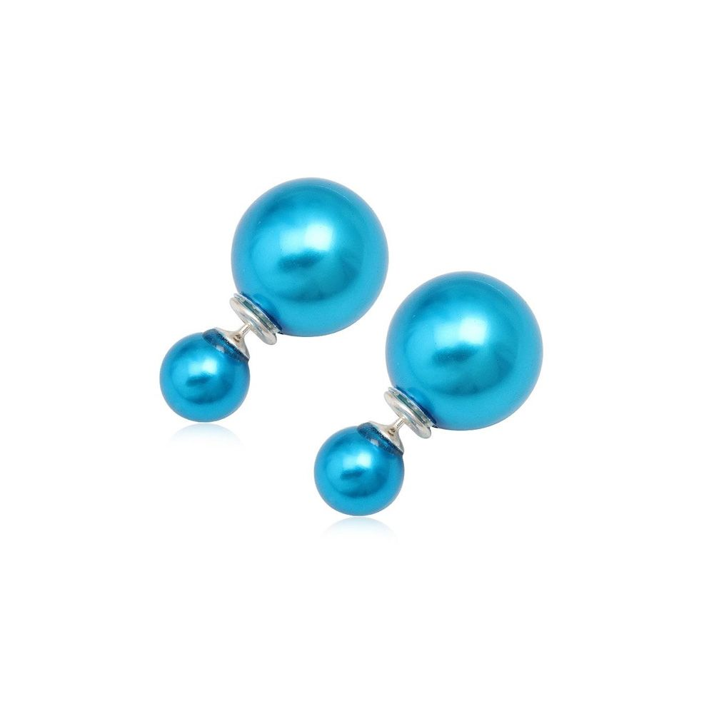 Blue Pearls Earrings and 925 Silver