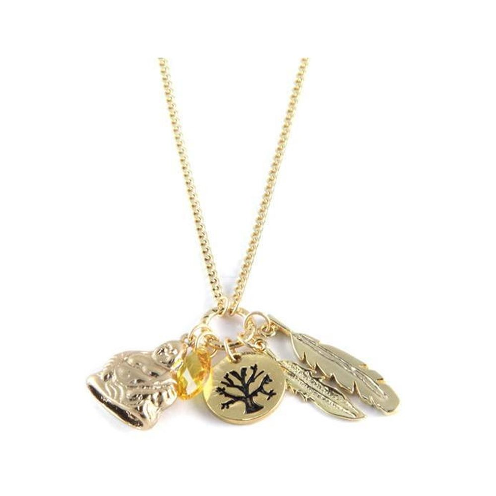 Ettika - Happiness Charm's Choker Necklace Crystal and Yellow Gold